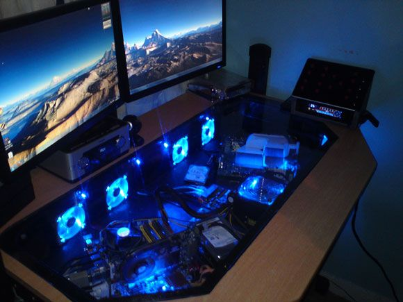 Crazy Cool Custom Computer Cases Part 2 Gallery Pc Desk Gaming Computer Desk Gaming Desk Hacks