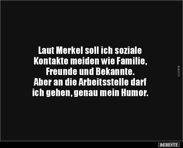 According to Merkel, I should avoid social contacts like .
