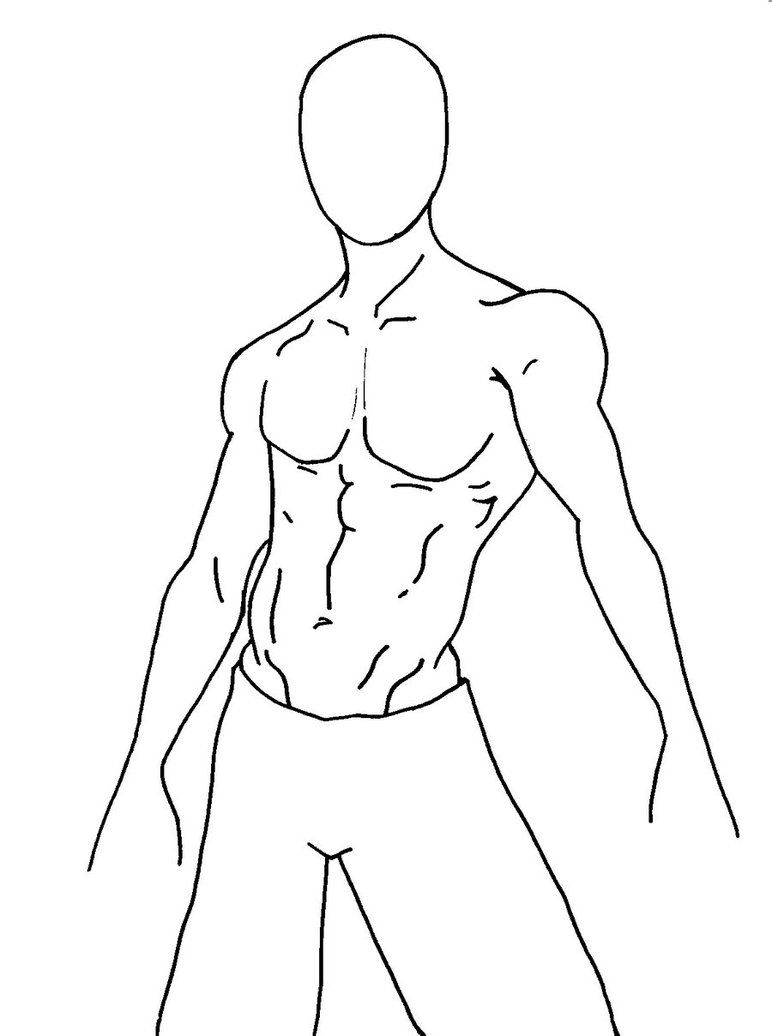 Muscle Man Base Body Drawing Male Body Drawing Drawing Base