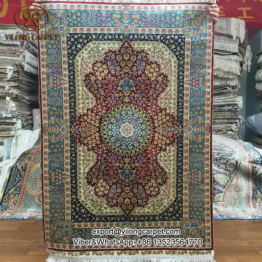 Yilong 2 7 X4 Small Size Handmade Floor Silk Oriental Rugs S96a2 7x4