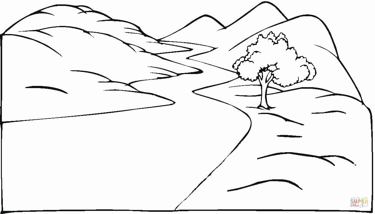 Landscape Coloring Pages To Print New Mountain Road Coloring Pages Print Coloring Sketsa Pemandangan