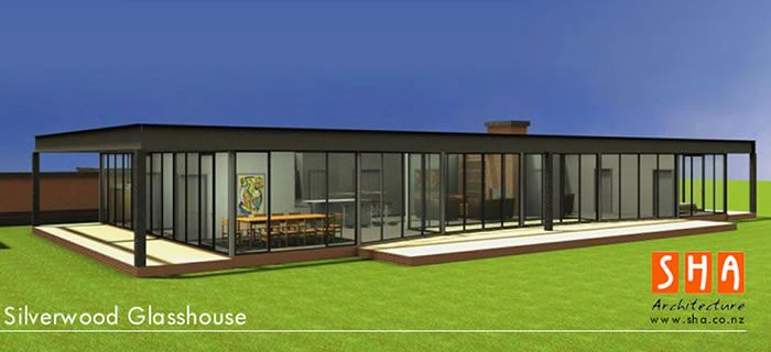 Pre fabricated plans silverwood glass house modular for Prefab sip homes