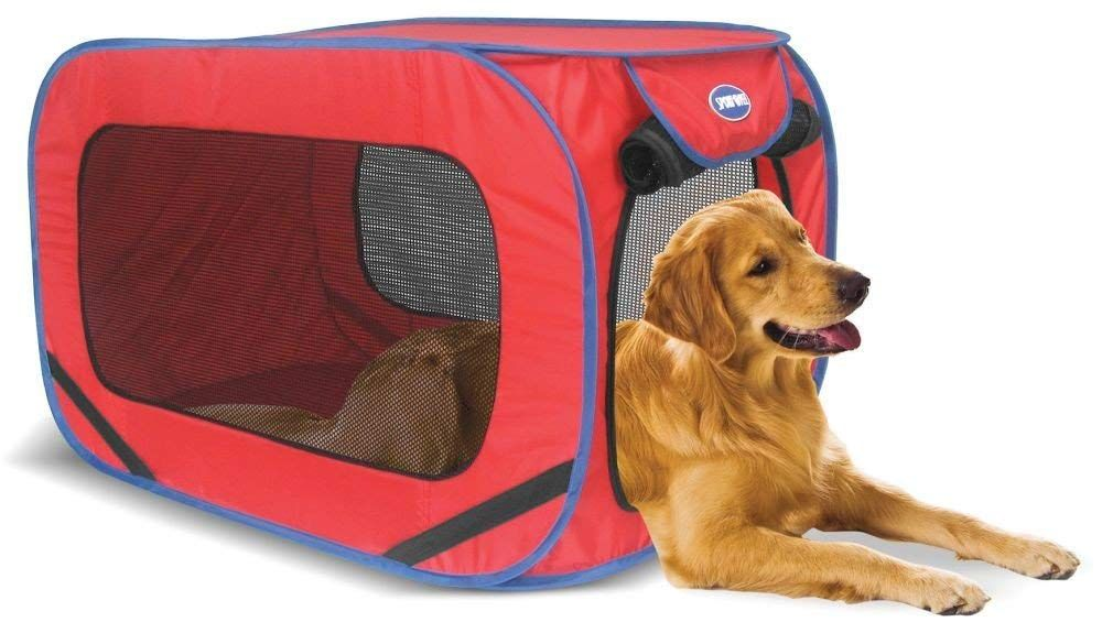 Sport Pet Designs Kennel Pro Pop Open Large Colors May Vary Dog Kennel Animal Design Kennel