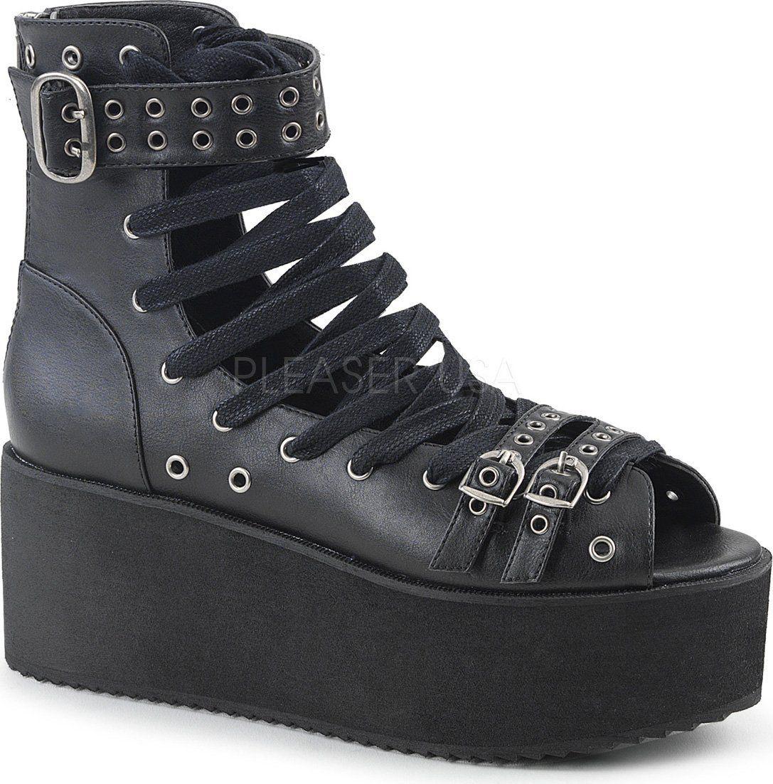 489a4cb6d20 Demonia Shoes - GRIP-105 Black Vegan Leather