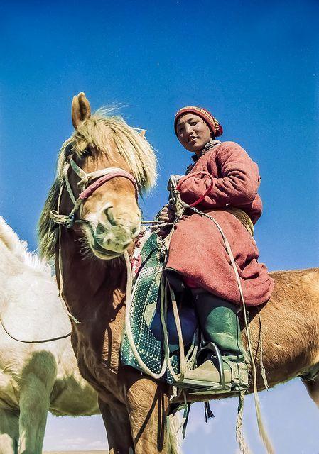 Steppe rider in Mongolia #MinoritiesCulture