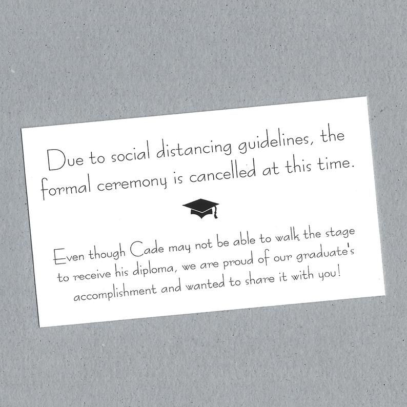 Graduation change insert cards set of 10 graduation
