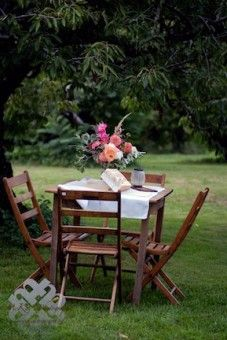 Rustic Outdoor Hurd Orchards Wedding With Vintage Wooden Chairs Mckay S Photography