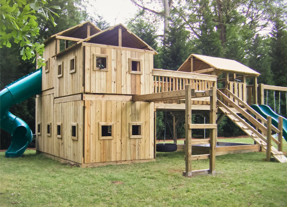 outdoor playsets on clearance wooden swing sets ideas