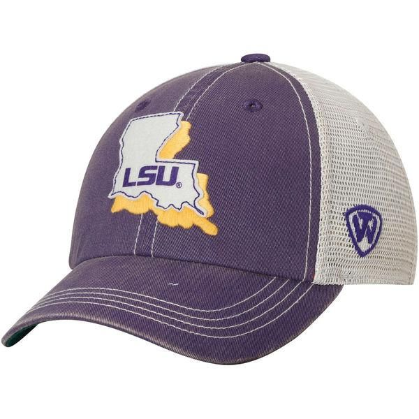 low priced c95b0 32218 Made and Designed by Top of the World. - Size is a One Size Fits All -  Embroidered on the front is a LSU Tigers logo within the Louisiana state  outline ...
