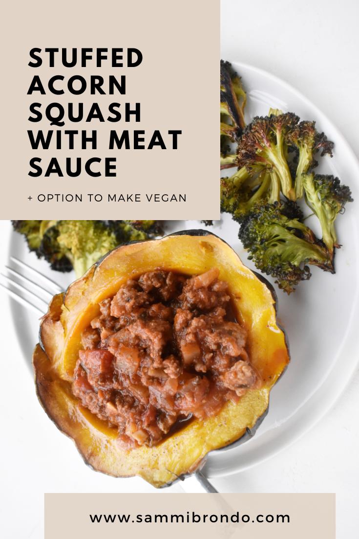 Stuffed Acorn Squash Recipe Acorn Squash Meat Sauce Dinner