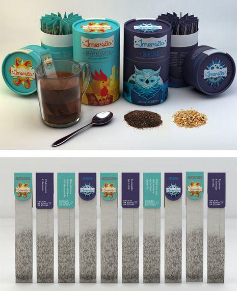 Los 13 mejores packagings de té #teapackaging