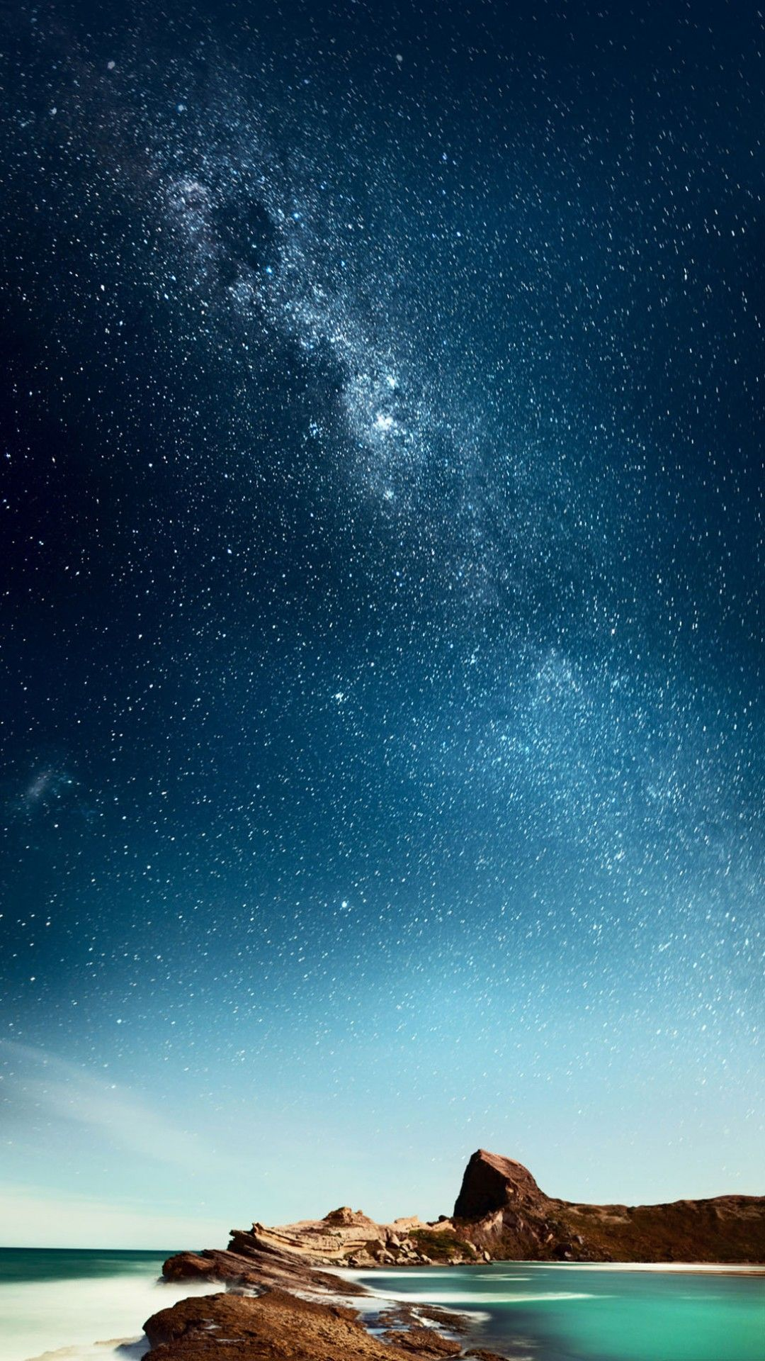 Blue, sky, night, wallpaper, iPhone, clean, beauty, colour