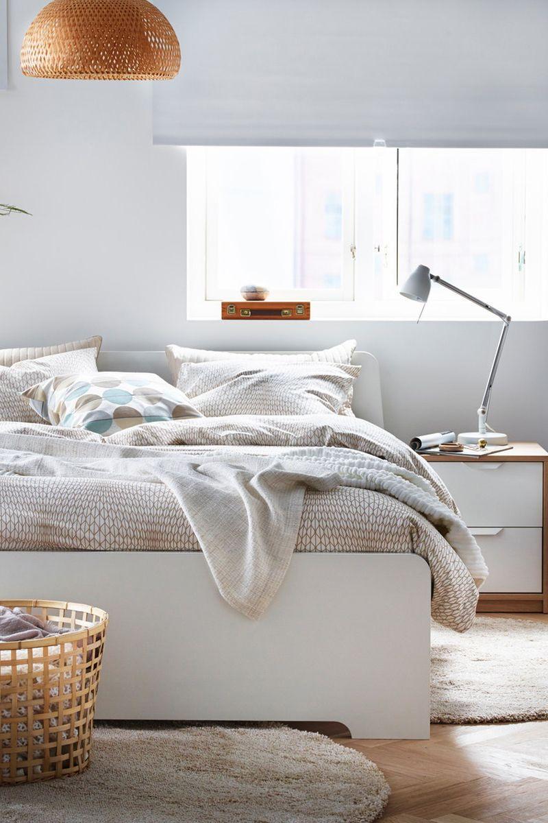 Askvoll Bettgestell Weiss Ikea Deutschland Haus Bettgestell Gastezimmer Einrichten
