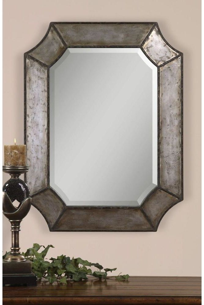 Global Direct 24 In X 32 In Decorative Metal Framed Mirror 13628