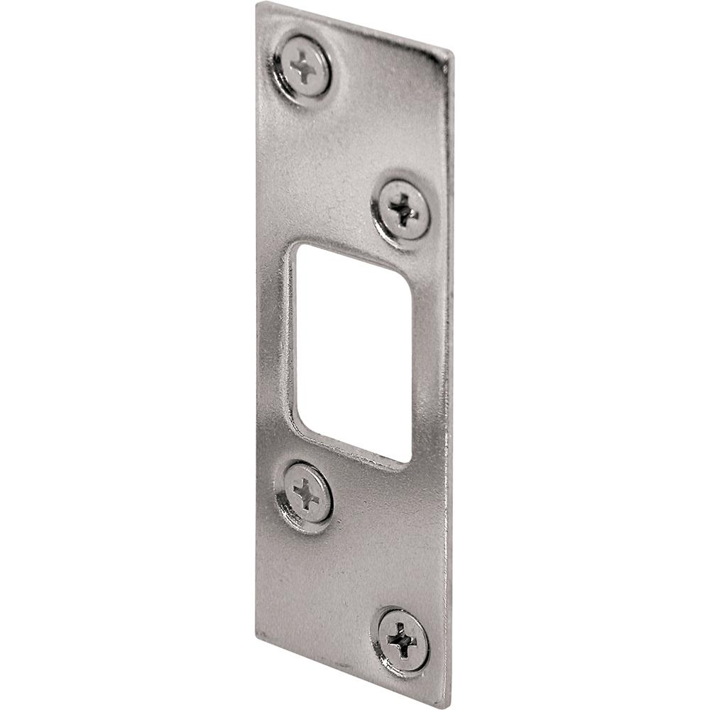 Prime Line 1 1 4 In X 3 5 8 In Nickel Plated Deadbolt Strike Plate Plating Chrome Plating Defender Security