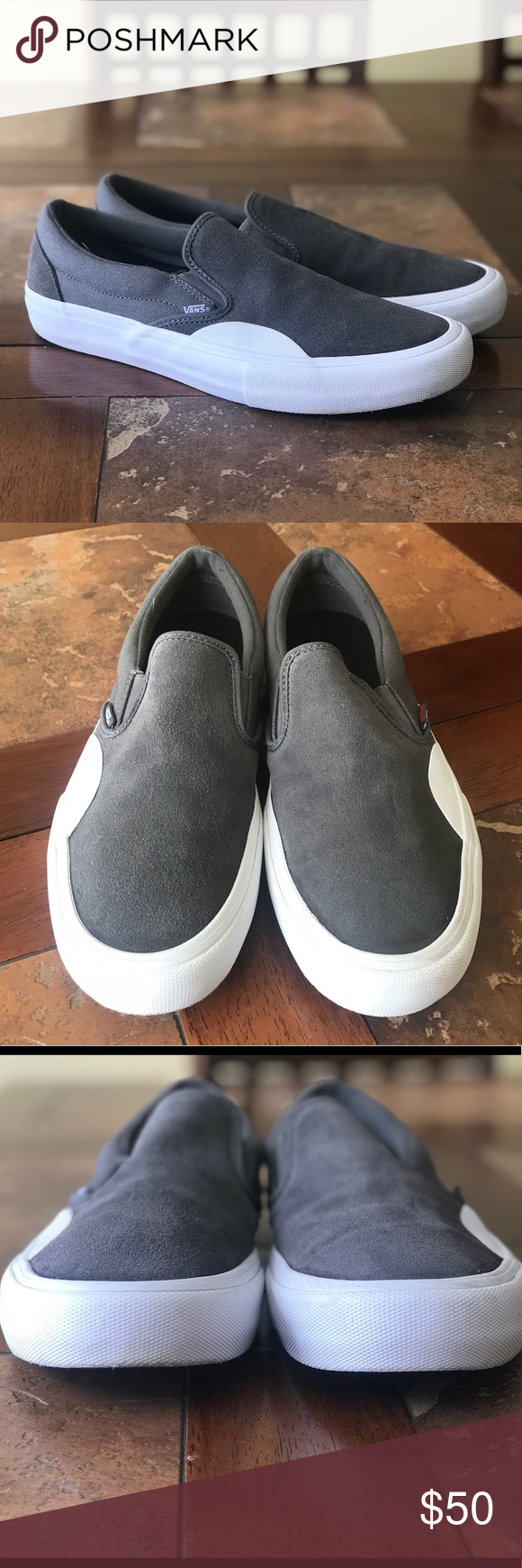 d5e5f0ebe89 Men s VANS Ultra Cush pro shoes Grey suede slip on vans - super soft foot  bed - worn before but show no signs of ware Vans Shoes Sneakers