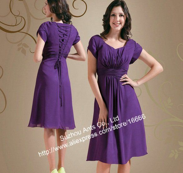 Purple Formal Dresses With Sleeves Photo Album - Homeas