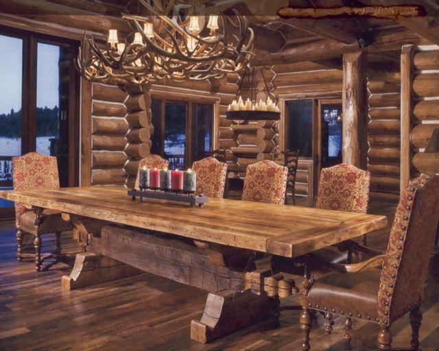 log dining room furniture   log cabin bar ideas   Sherry Hauser Portfolio of Interior ...