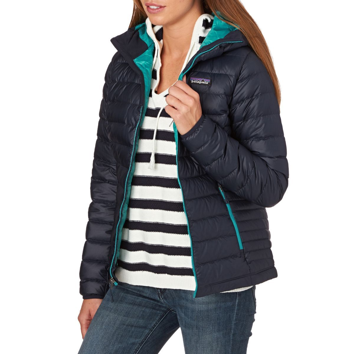 Nike epic jacket - Patagonia Women S Down Sweater Hooded Jacket Navy Blue Epic Blue