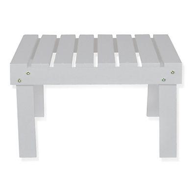 Bergonce Table basse de jardin en acacia lasuré blanc   salon de ...
