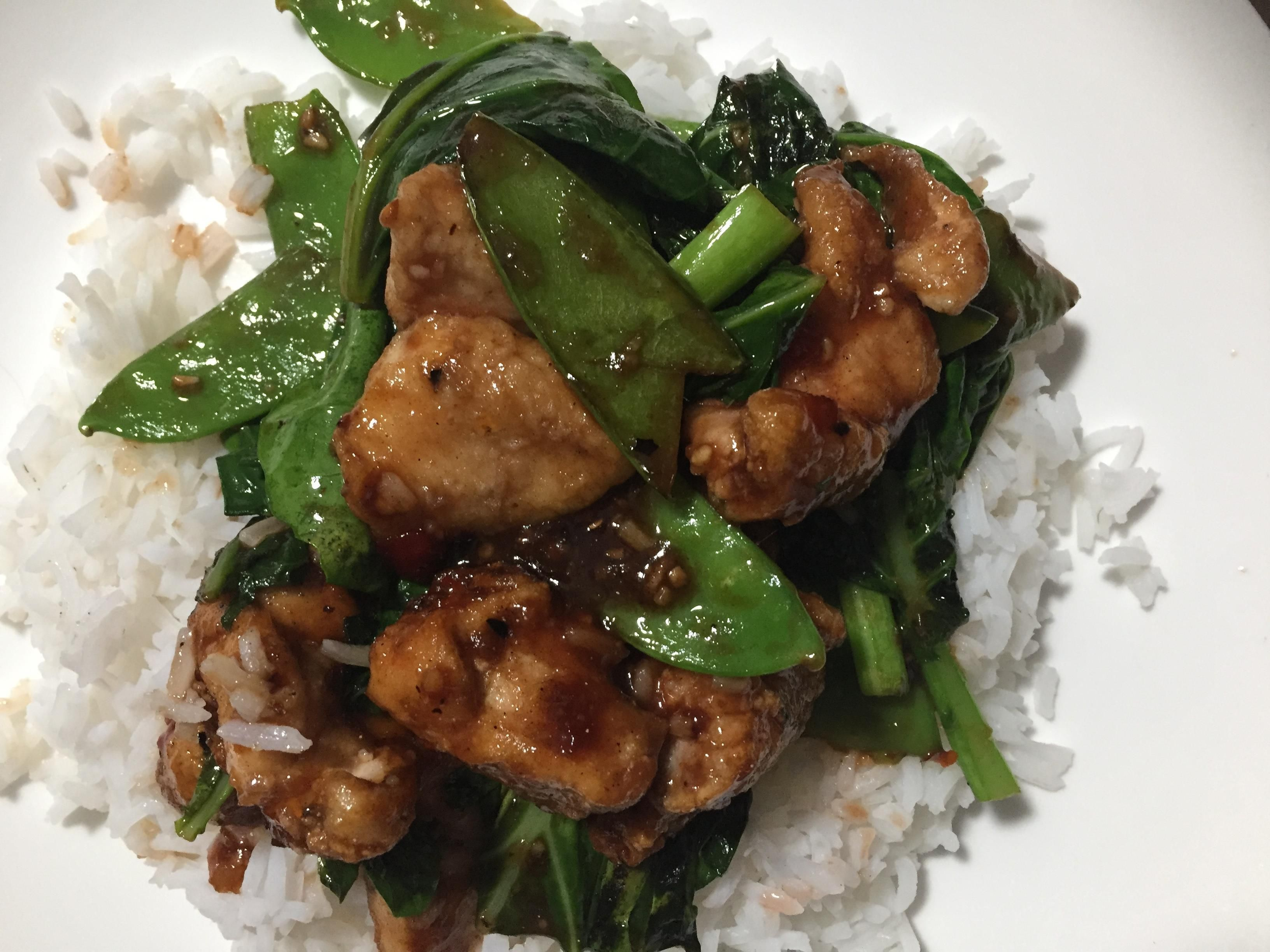 Crispy Spiced Chicken And Plum Sauce Stir Fry Recipe Chicken Spices Plum Sauce Chicken