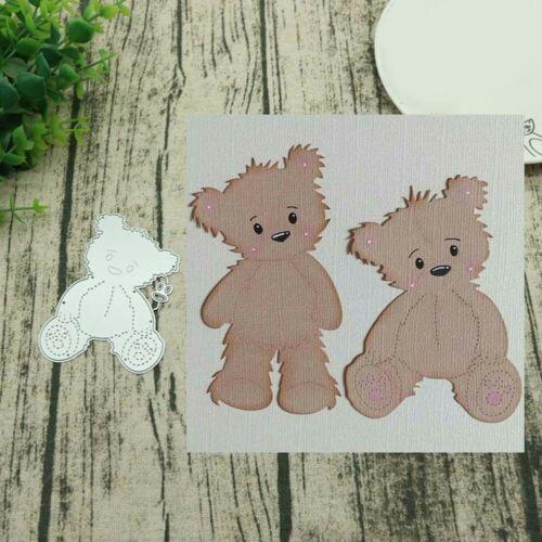 Bear Set Metal Cutting Dies Stencil Scrapbooking DIY Album Paper Card Art Craft