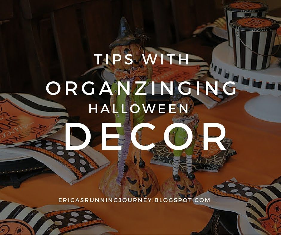 How To Organize Halloween Decorations for Storage Mrs Erica - my halloween decorations