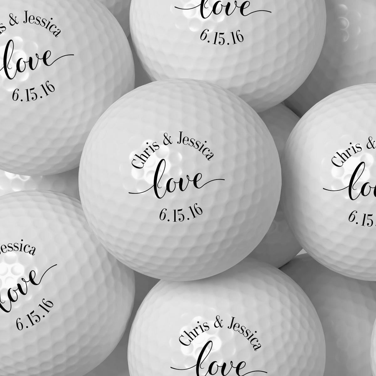 Love Personalized Golf Balls #bridalshower #customfavor #favor ...