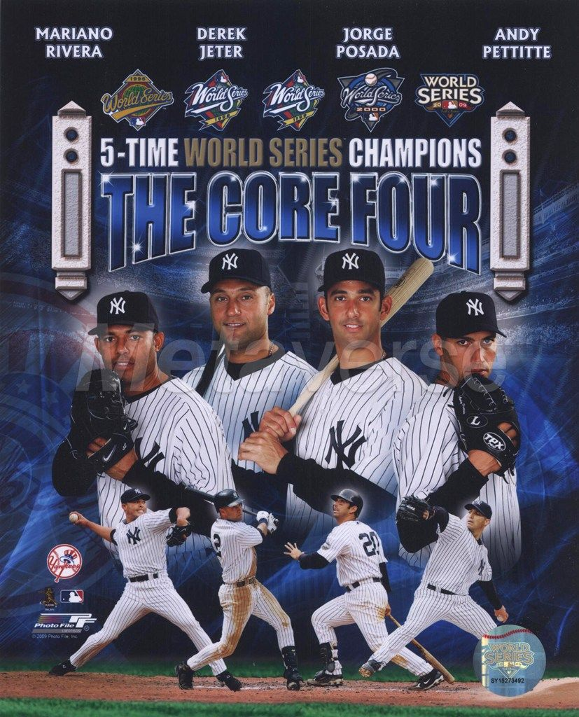 Ny Yankees Mariano Rivera Derek Jeter Jorge Posada Andy Pettitte The Core 4 History New York Yankees New York Yankees Baseball Yankees Baseball