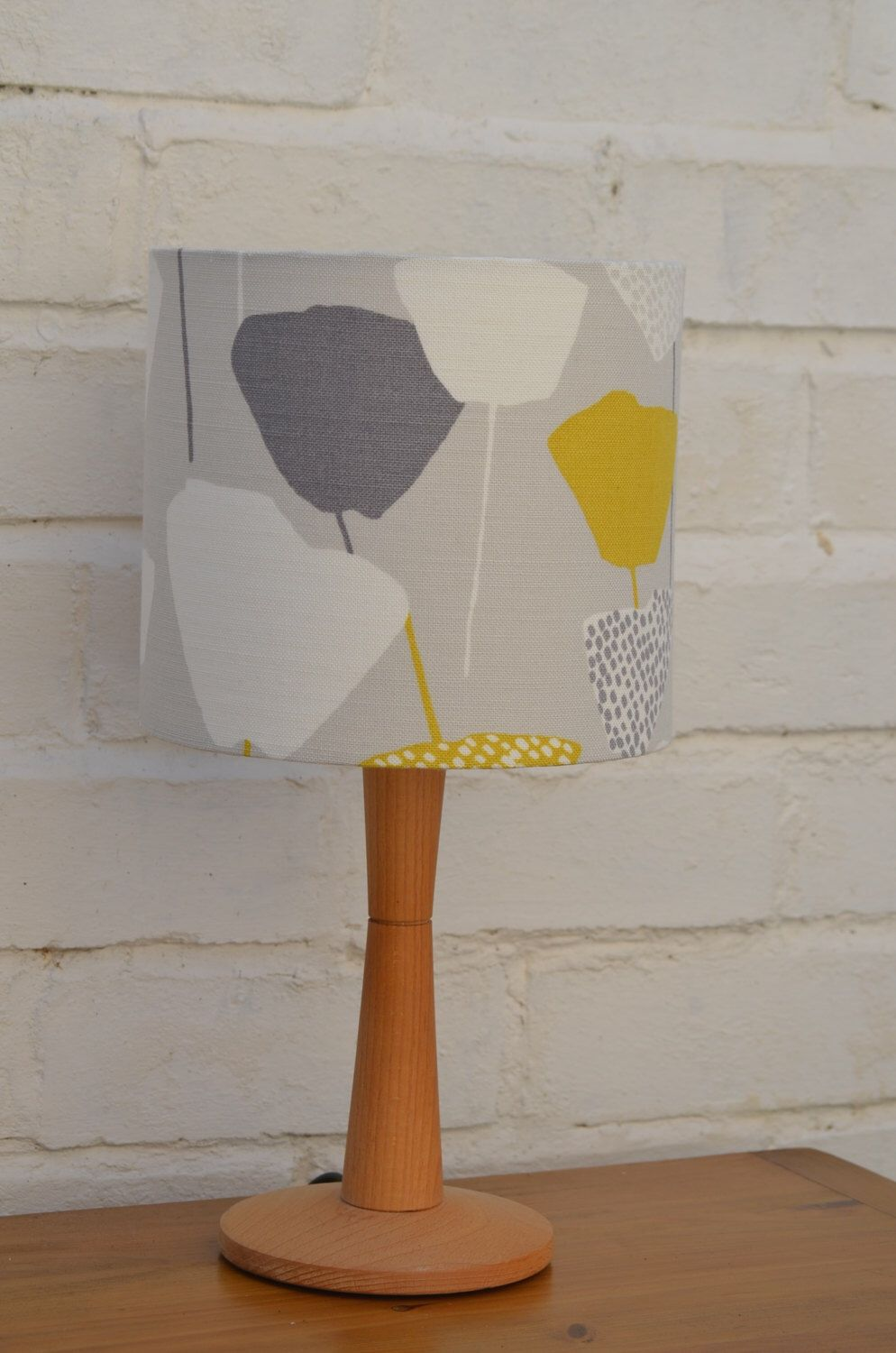 Mid Century Lamp Shades Lampshade Grey Lampshade Retro Lamp Lighting Mid Century Lamp