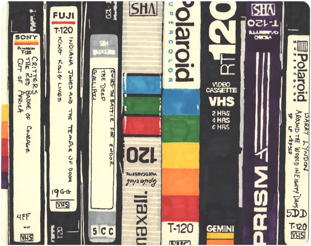 A Tribute To The 80s Vhs Tapes Games 12 Sharpie Drawings Sharpie Drawings Vhs Vhs Tapes