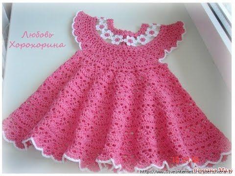 Crochet Patterns| for free |Crochet Baby Dress| 585 | Crochet Baby ...