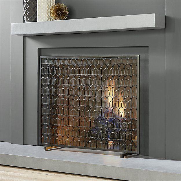 Arch Fireplace Screen Cb2 Modern Fireplace Modern Fireplace Screen Contemporary Fireplace Screens