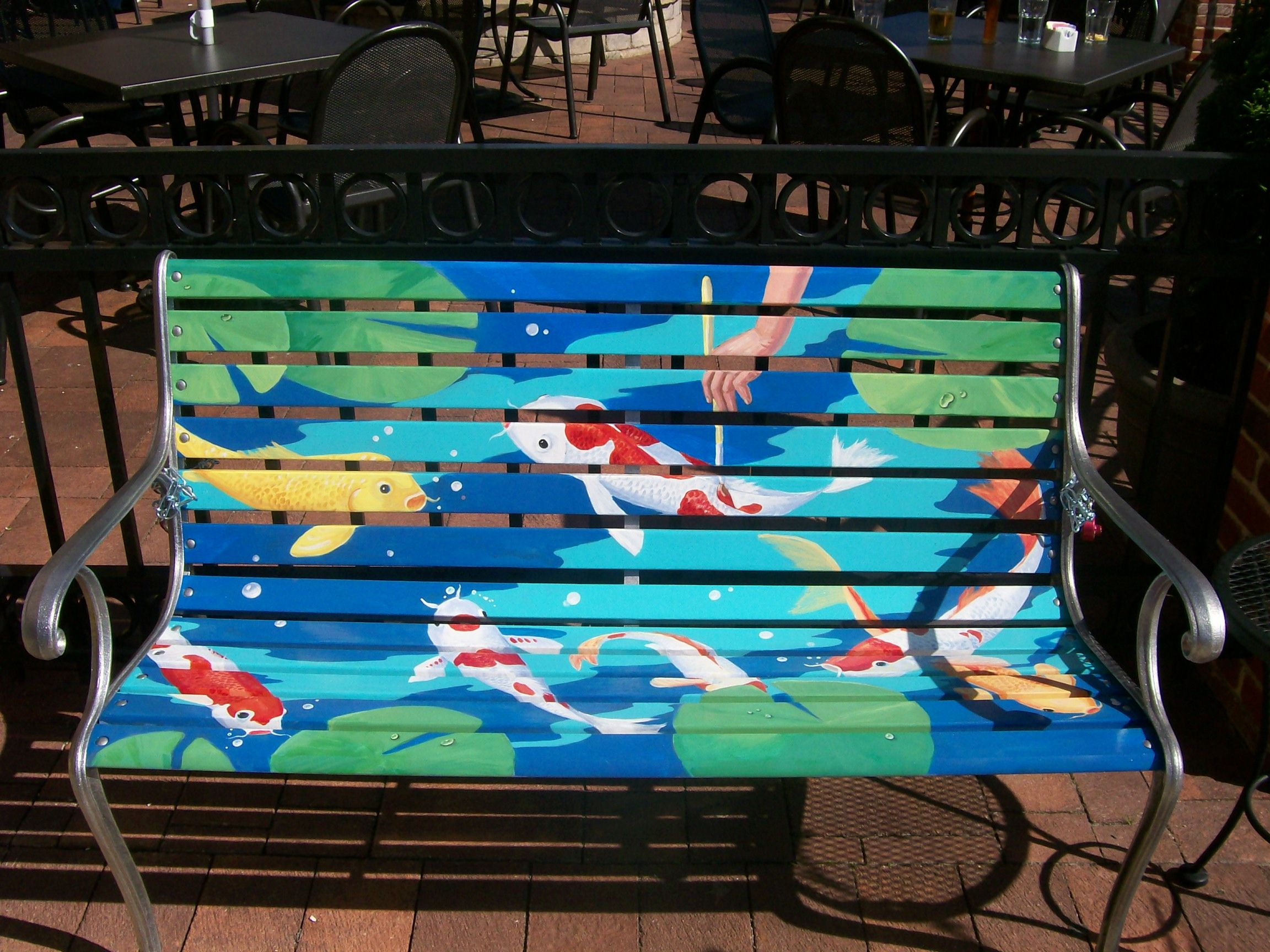 Bench Painting Ideas Part - 28: Faux Painting A Chicagoland Park Bench