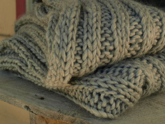 Free Knitting Pattern Chunky Afghan Throw So I Found