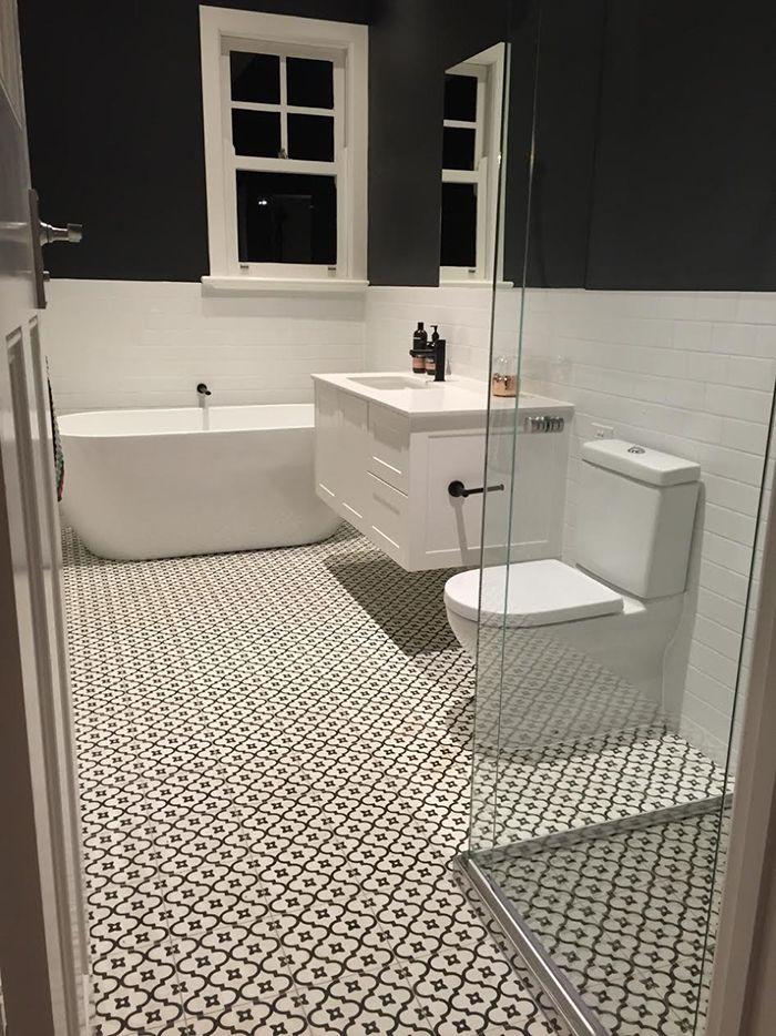 White Moorish Night Bathroom Tiles Jatana Interiors