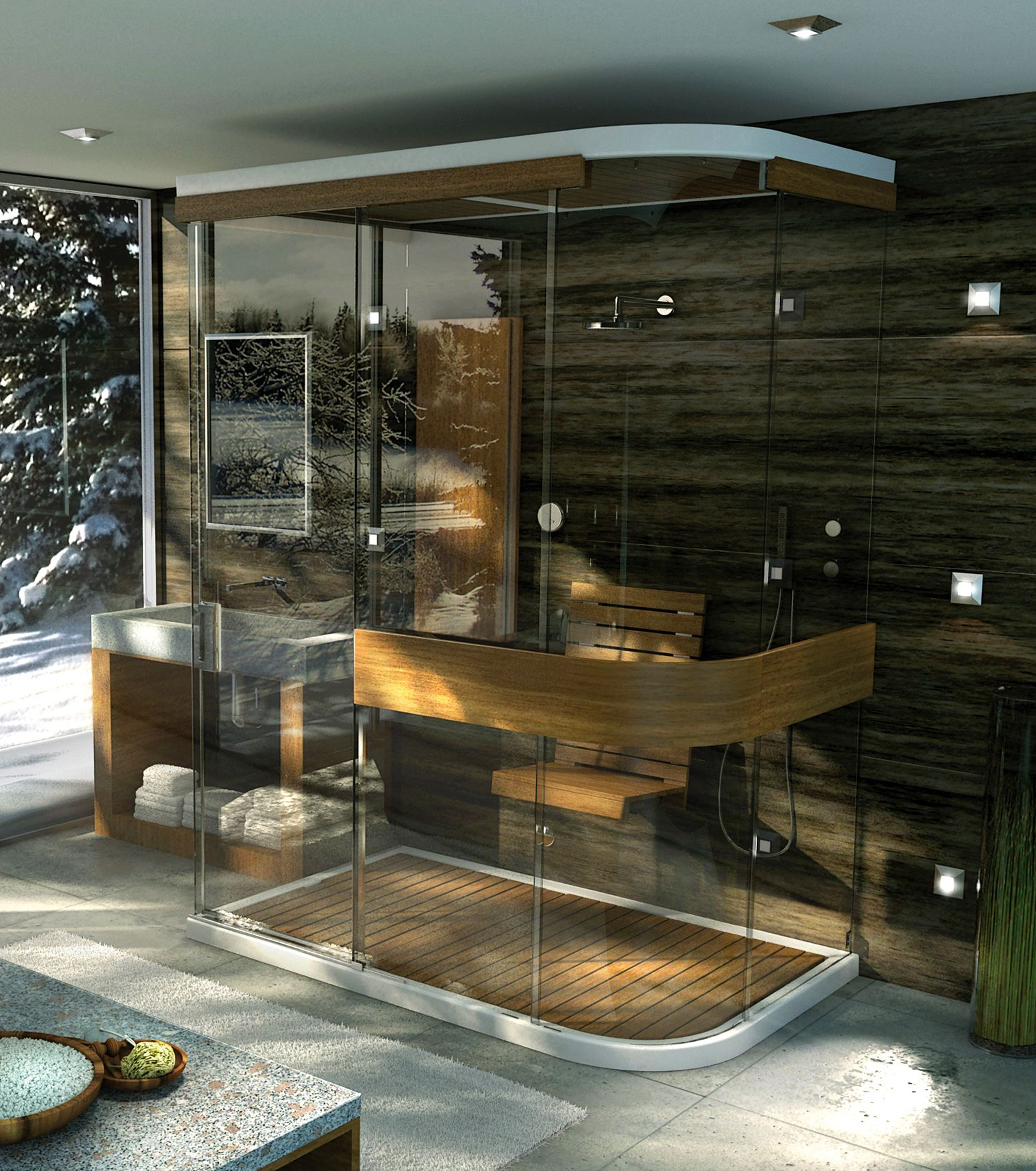 Exposé 6642 M Glass enclosures or Wall-mounted shower - MAAX ...