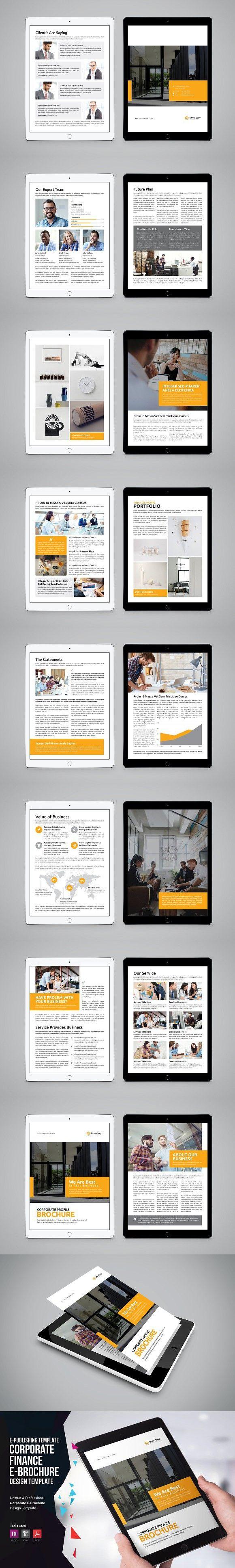 e book corporate e brochure v1 brochure templates pinterest