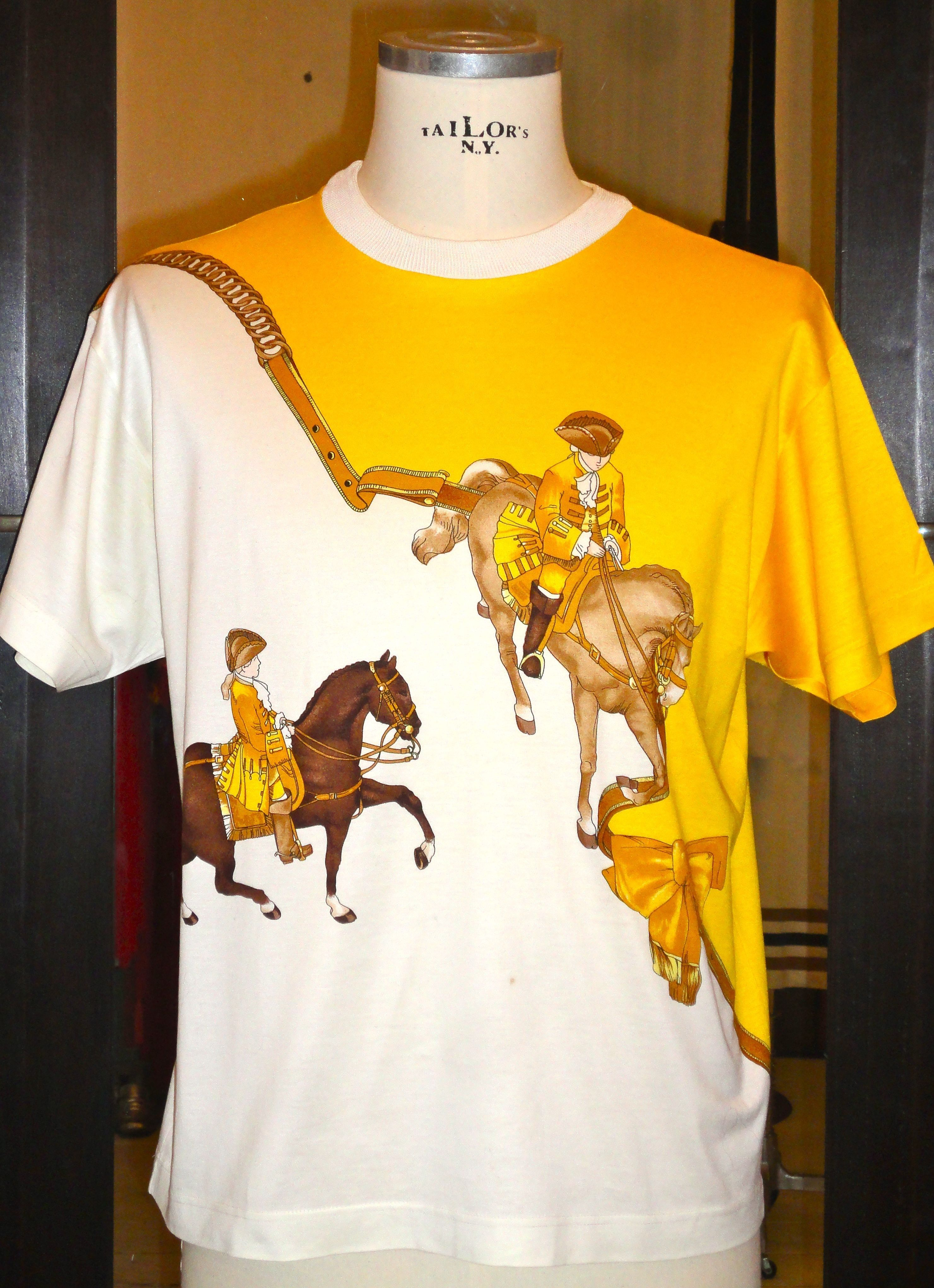 new high quality detailed pictures cute cheap HERMES cotton T-shirt | Vintage outfits, Vintage hermes, Outfit ...