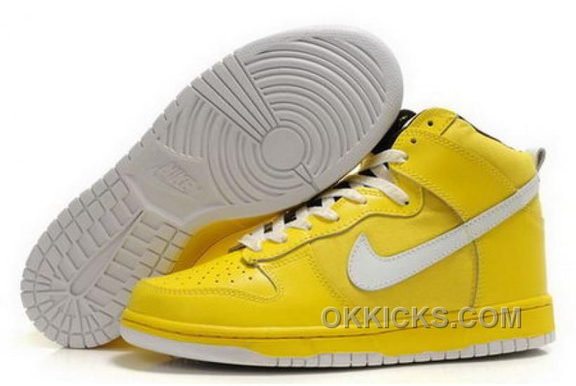 best sneakers adadd 22cb6 ... 50% off buy inexpensive mens nike dunk high top shoes campus yellow  white cnwxi from