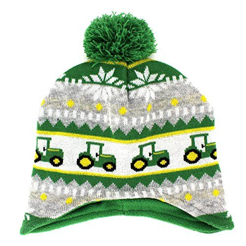 e4367e2a305 John Deere Toddler Youth Beanie Knit Hat (One Size Toddler