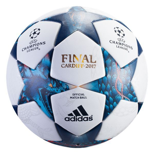 adidas 2017 Finale Cardiff Official Match Ball White/Cyan