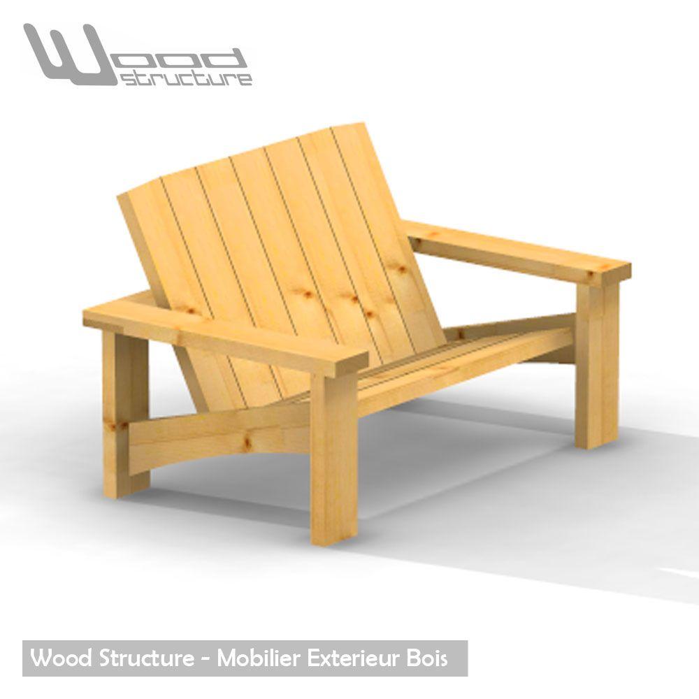Banc douglas - Design Wood Structure - Fabriquée en France ...