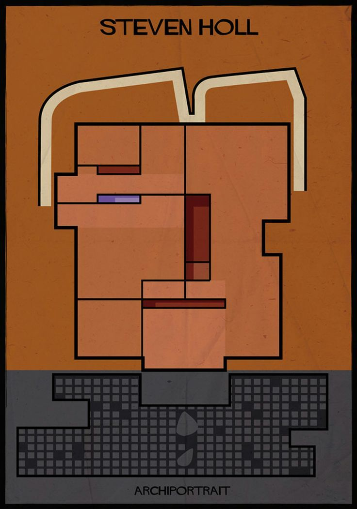 federico babina illustrates renowned architects in their own style - designboom   architectur