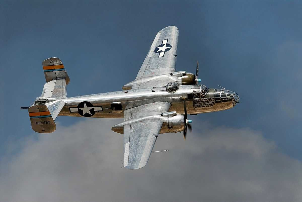 My grandfather flew in these. Beautiful B-25