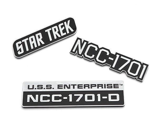 Star Trek USS Enterprise NEW LARGER SIZE CHROME cut vinyl sticker decal TOS