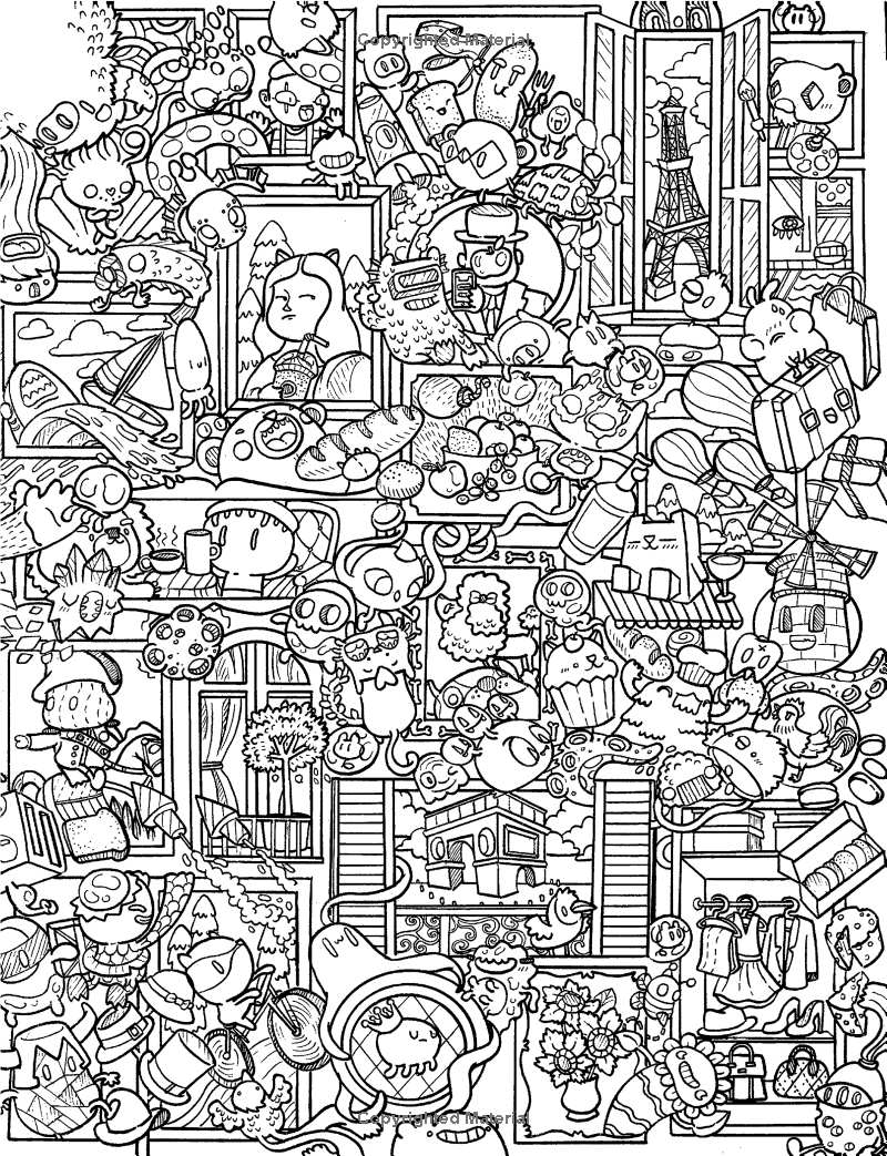 Amazon Doodle Chaos Zifflins Coloring Book Volume 3 9781523834778