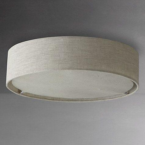 Buy John Lewis Samantha Linen Flush Ceiling Light Online At