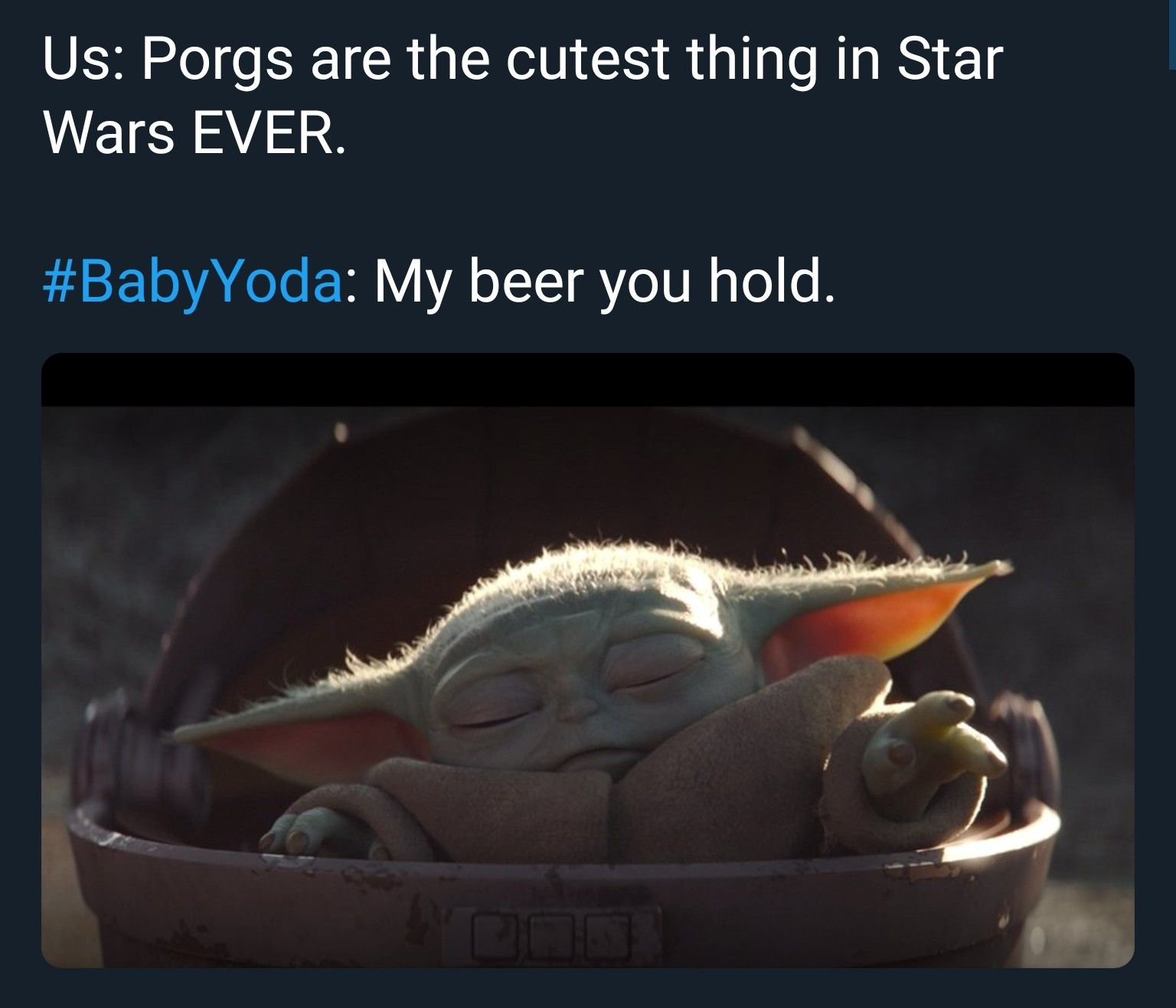 Ok People If I See Another Post Saying This Is Baby Yoda I M Gonna Scream This Ain T Him It S The Same Species As Star Wars Humor Yoda Meme Star Wars