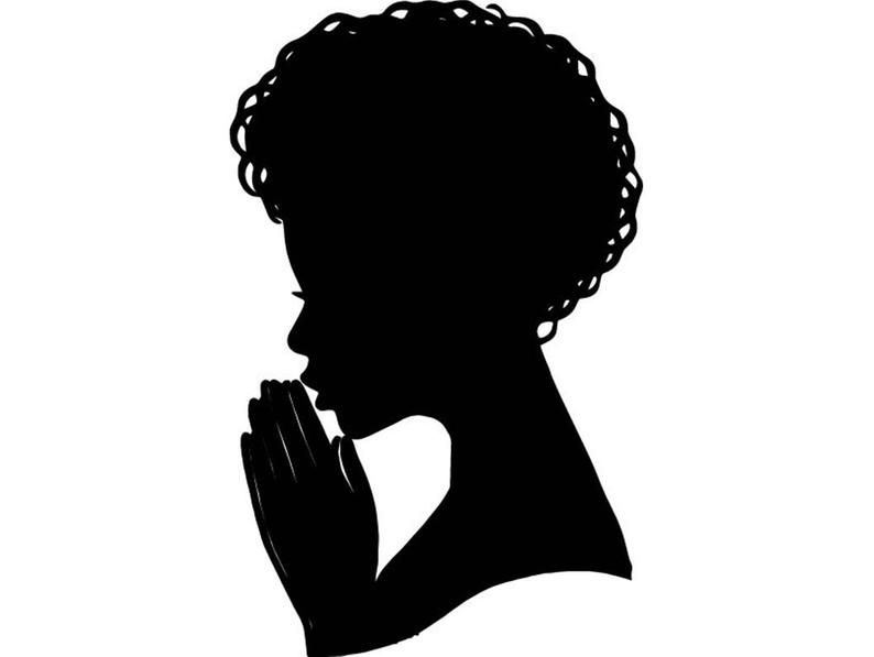 Black Queen Praying Woman Silhouette Afro Nubian Princess Etsy Black Woman Silhouette Woman Face Silhouette Silhouette People